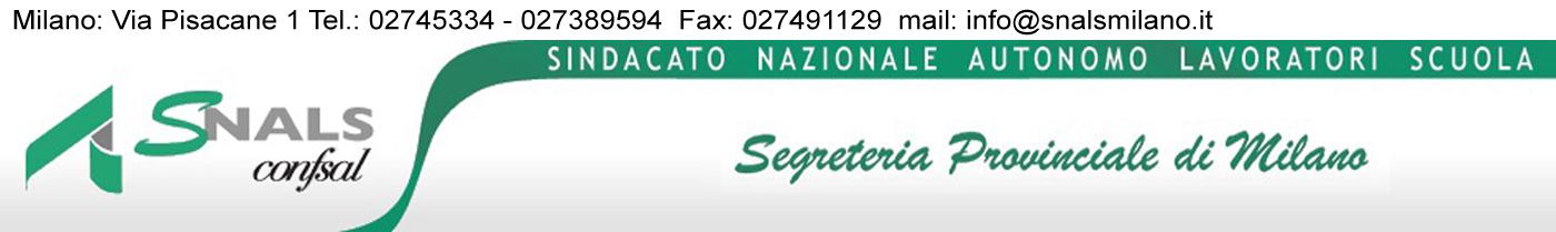 Snals – Segreteria Provinciale Milano